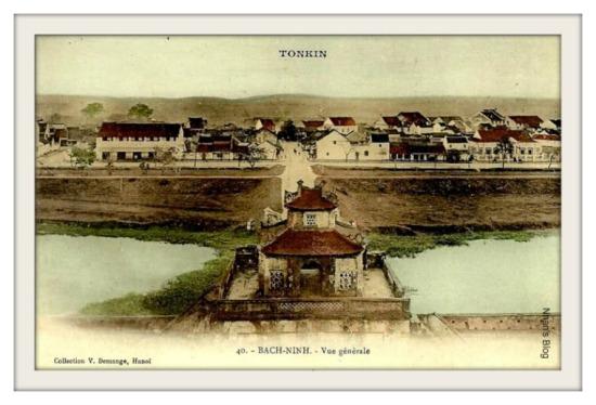 BẮC NINH-thị xã Bắc Ninh nhìn từ thành cổ