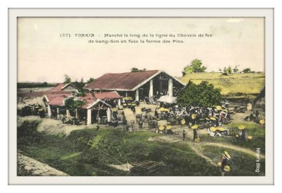 LẠNG SƠN-Chợ bên tuyến đường sắt Lạng Sơn
