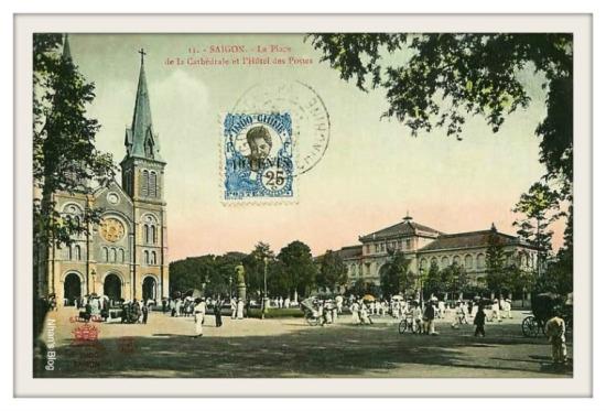 Nhà thờ và bưu điện