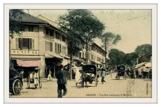 SÀI GÒN-Đường sau chợ cũ (góc Hàm Nghi và Hồ Tùng Mậu ngày nay)