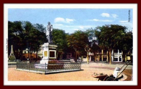 SÀI GÒN-Tượng đô đốc Rigault de Genouilly (quảng trường Mê Linh sau này)