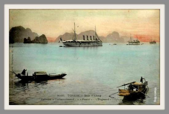 VỊNH HẠ LONG-hạm đội  Chateaurenaud -  Bugeaud trên vịnh