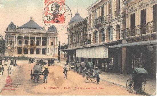 000.Nhà hát lớn Hà Nội và phố Tràng Tiền ngày nay