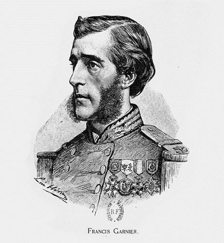 005.Chân dung Francis Garnier, sĩ quan Pháp chỉ huy trận đánh thành Hà Nội ngày 20-11-1873