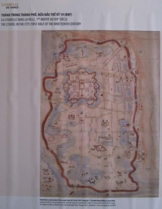 007.Hanoi1831-Bản đồ hoàng thành Thăng Long Bản đồ Hà Nội thế kỷ 19