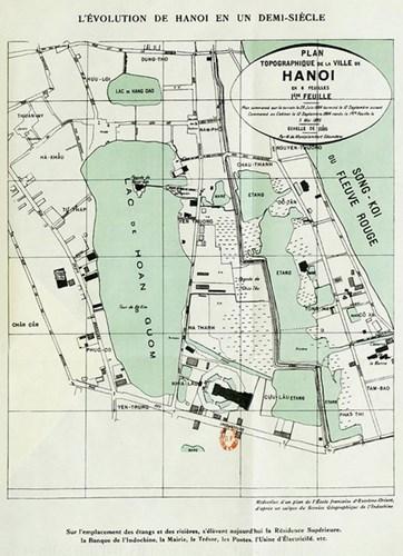 018.Bản đồ khu vực trung tâm Hà Nội năm 1884
