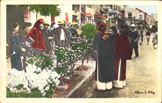 Chợ hoa Hàng Lược trước chợ Đồng Xuân