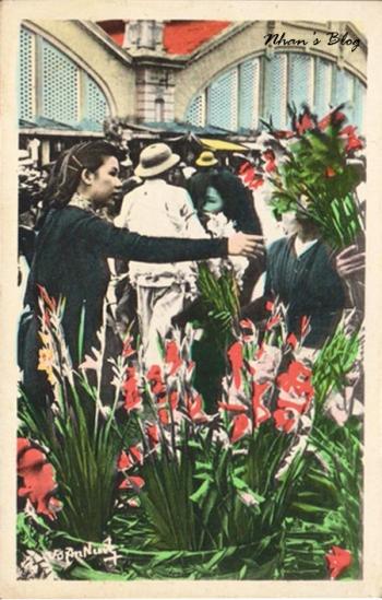 Chợ hoa trước chợ Đồng Xuân
