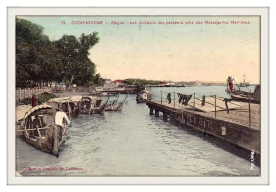SÀI GÒN-Khu vực gần cảng hãng đường thủy Messageries Maritimes