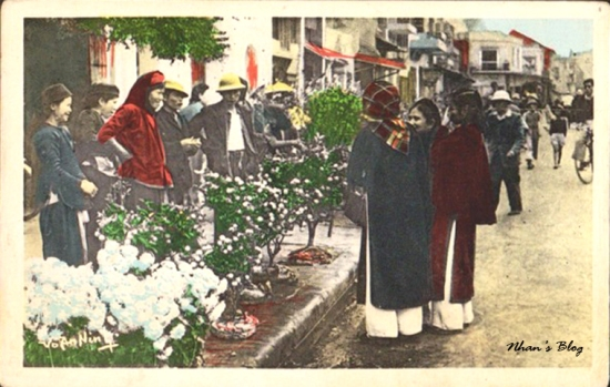 001.Chợ hoa Hàng Lược trước chợ Đồng Xuân