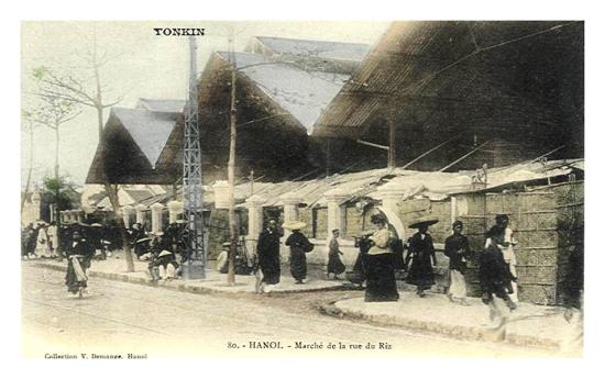 001.HANOI - Marché de la rue du Riz