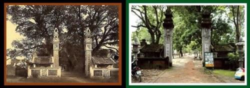 Đền Voi Phục (Cầu Giấy) trước đây và hiện nay