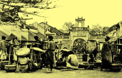 Chợ ở cửa ô Thanh Hà