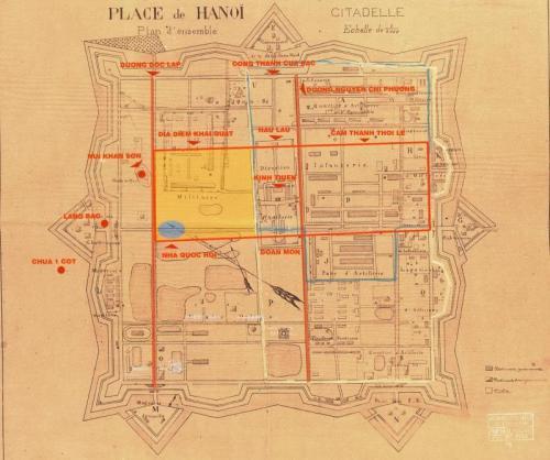 003.Vị trí cấm thành theo giả thuyết của Giáo sư sử học  Phan Huy Lê.