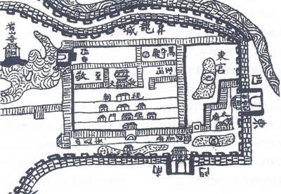 02.Cấm thành trên bản đồ Thành Đông Kinh theo bản đồ Hồng Đức