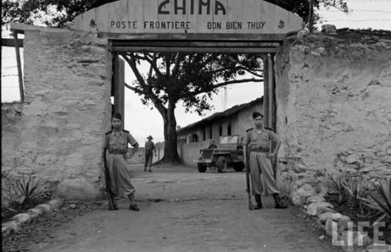 Đồn biên thùy CHIMA, Lạng Sơn, 1950.