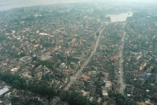 Hà Nội ảnh chụp từ trên không, 1989. Ảnh: David Alan Harvey