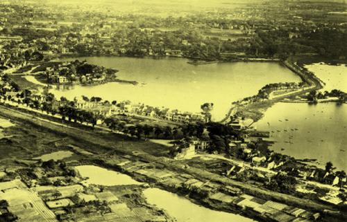 Hồ Trúc Bạch và ven đê sông Hồng