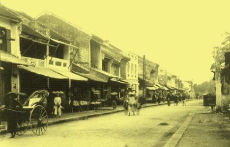 Phố chợ Hàng Nón.