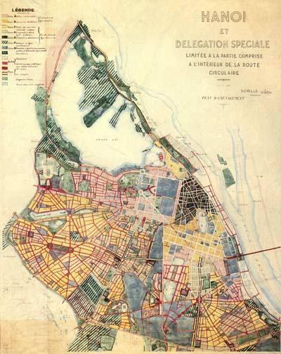 Bản đồ quy hoạch HN 1943.