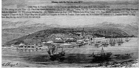 000.Pháo thuyền bắn yểm trợ cho quân Pháp đánh chiếm thành Hà Nội
