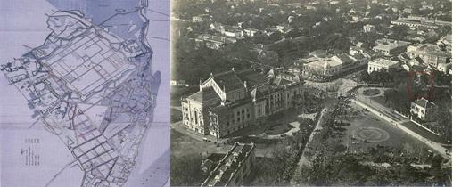 000.Quy hoach Hà Nội 1897 và những đường phố xây theo QH ( nhìn từ sau Nhà hát Lớn).