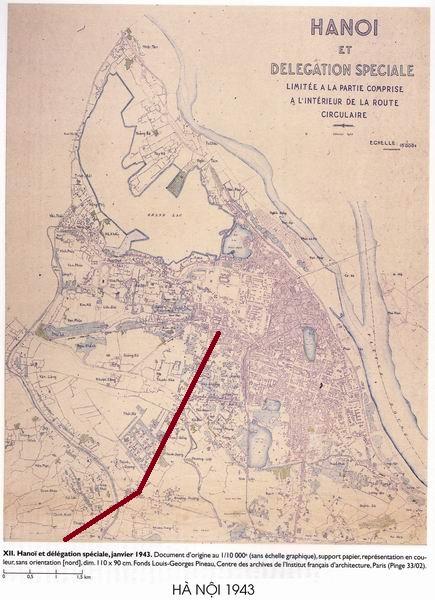 000c.Bản đồ HÀNỘ 1943