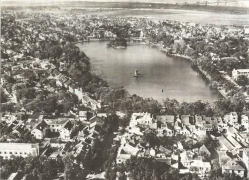 001.Quy hoạch Hà Nội được lấy tâm điểm là Hồ Gươm-bức ảnh này được chụp sau năm 1920