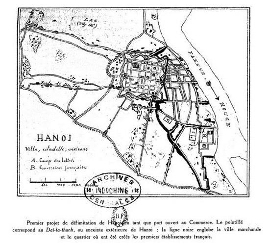 001.Thành Hà Nội, khu nhượng địa và các làng xóm.