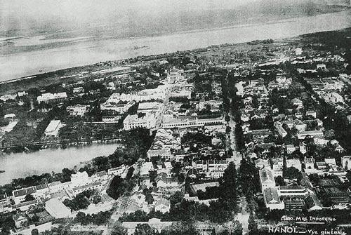 001.Toàn cảnh phố Tràng Tiền-Hàng khay, Hà Nội từ trên cao