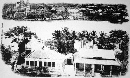 001.Toàn cảnh trung tâm Hà Nội nhìn từ Toà thị chính sang Nhà thờ lớn.