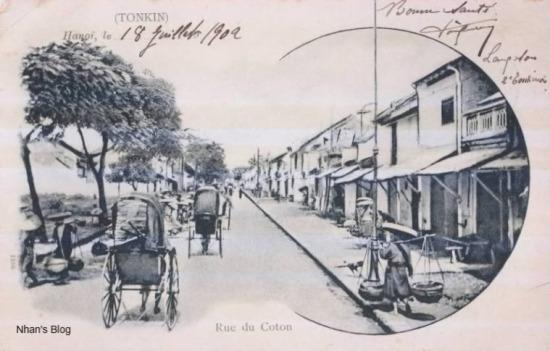 Phố Hàng Bông trước 1902