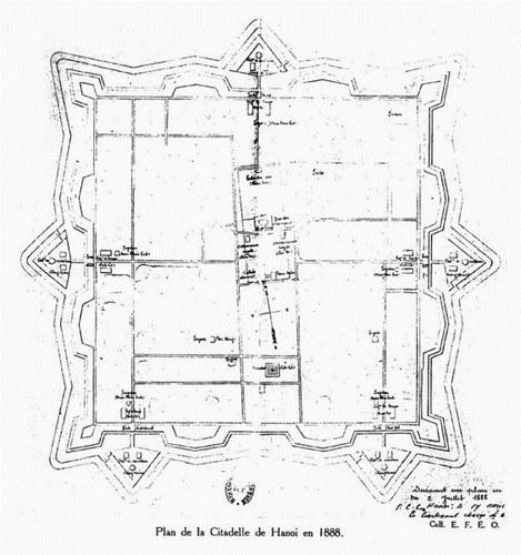 002.Mặt bằng Thành Hà Nội năm 1888.