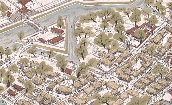 Cửa Đông Hoàng Thành: Năm 1802, Huế đã thay Hà Nội trở thành thủ đô. Ba năm sau đó, khu hoàng thành được xây dựng lại với quy mô nhỏ hơn trên nền các công sự với sự giúp đỡ của người Pháp. Nhiều phố mới được thành lập trên đống đổ nát của kinh thành cũ.
