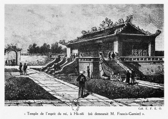 005.Điện thờ trong hoàng thành Hà Nội, nơi Francis Garnier từng nghỉ lại sau khi chiếm thành.