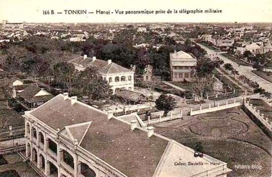 006.hình ảnh góc đường Điện Biên Phủ – Nguyễn Tri Phương chụp từ đỉnh Cột Cờ, hồi đó thuộc trạm điện báo của quân Pháp.