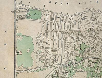Trích phần công viên Thống Nhất năm 1960. Tấm bản đồ tỷ lệ 1-5000 do Uỷ ban Xây dựng in tháng 4-1962 theo bản vẽ tháng 6-1960.