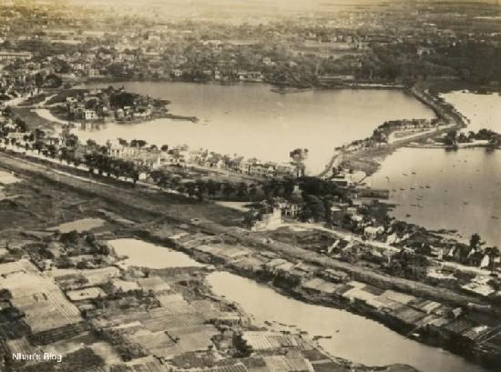 010.Đường Cổ Ngư xưa(đường Thanh Niên bây giờ) và khu làng Ngũ Xã xưa