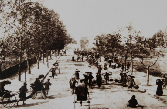 """Con phố mang tên """"Rue de France - Nước Pháp"""" từ bờ sông Hồng đi thẳng vào trung tâm hồ Hoàn Kiếm, tạo nên một con đường mới và sầm uất nhất: Đường Paul Bert, nay là Tràng Tiền."""