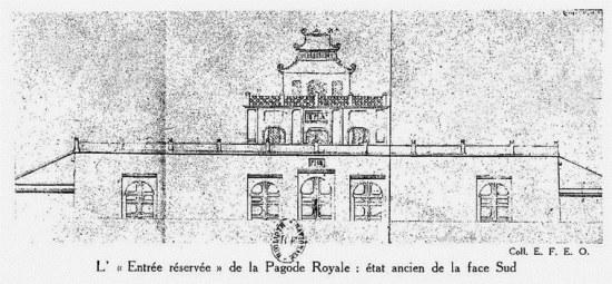 014. Bản vẽ ghi lại Mặt đứng phía trước của Đoan Môn, Hoàng thành Hà Nội.