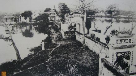 018.cầu thê húc & đền ngọc sơn đầu thế kỷ xx
