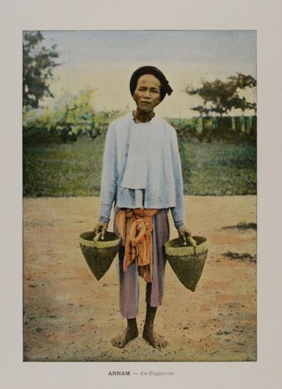 1898 Anamese ABORIGINAL native people ANNAM Vietnam