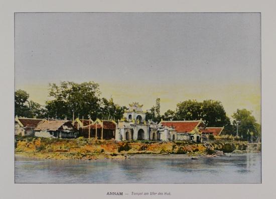 1898 Annam. Pagoda at the River Hue