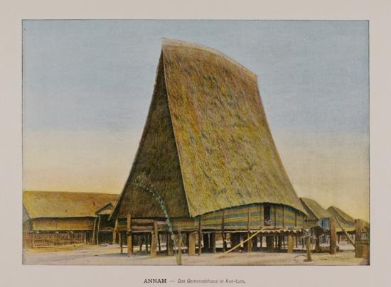 1898 Annam. Parish Hall in Kon-tum at the Mois Sedangs