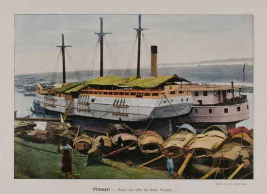 1898 VIETNAM Tonkin HANOI Red River