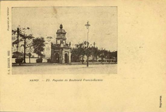 Dấu tích của chùa Báo Ân chỉ còn lại tháp tháp Hòa Phong trên bờ hồ Hoàn Kiếm