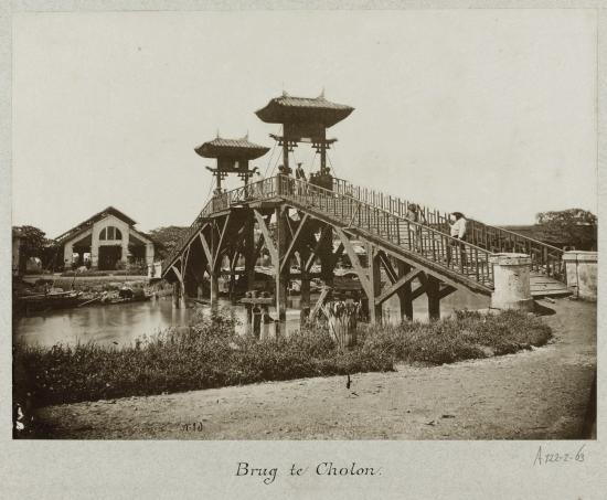A bridge in the Chinese district of Saigon Cho Lon 1888