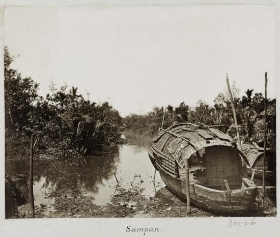A stream with a sampan 1888