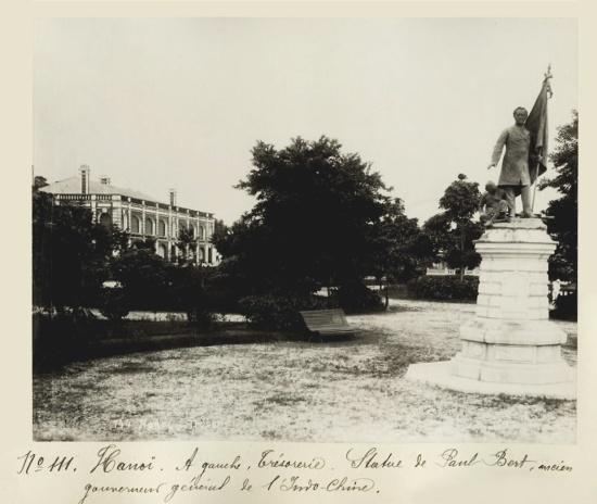 c.1880's INDOCHINA - HANOI - STATUE PAUL BERT