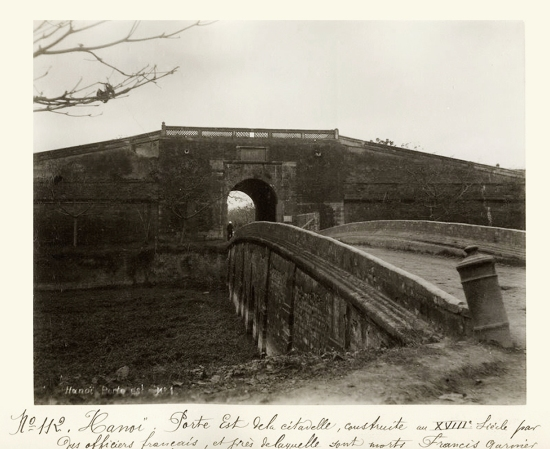 c.1890's INDOCHINA - HANOI - DOUBLE BRIDGE - Cửa Đông Thành Hà Nội